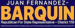Juan Fernandez-Barquin for State Representative Logo